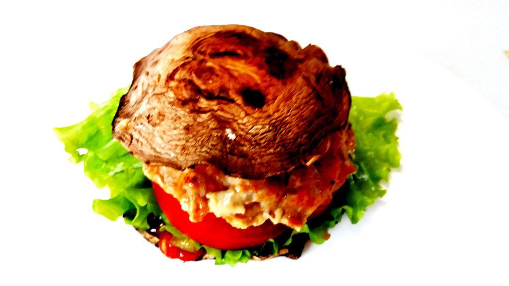 Reseptejä ja treenejä: gluteeniton terveellinen portobello-hampurilainen